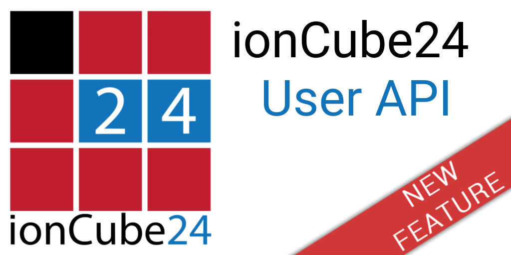 New ionCube24 User API